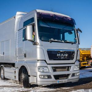 MAN truck service at Ring Road Garage, Buckinghamshire